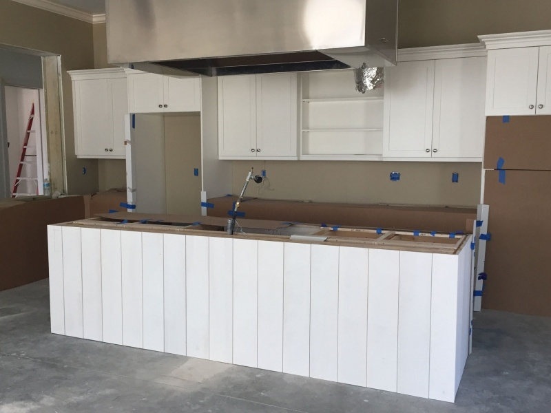 demo kitchen island